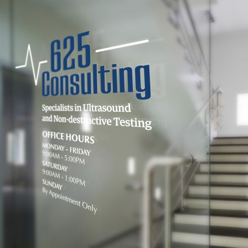 625 Consulting Window Lettering
